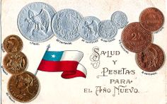 Chile Coinage & Flag World Thinking Day, World Coins, Girl Scouts, Chile, Flag, Money, Weights, Girl Guides, Chilis