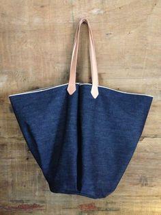 Selvedge Denim Basket Bag: Remodelista