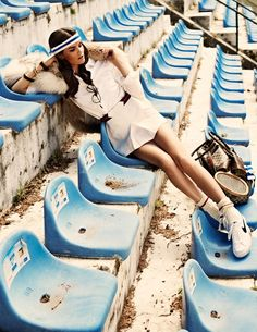 Marie Claire Italia Nov '11 OldWIG Happening Vintage Photoshoot Inspiration #oldwig #vintage #inspiration #shooting #70s #tennis #girl #hot #spring #summer