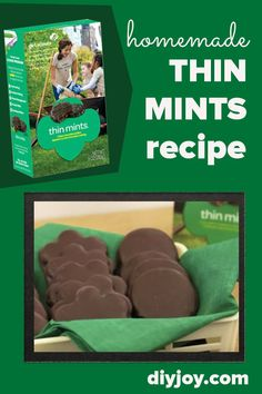 How to Make Thin Mints - Recipe and Instructions - Girl Scout Thin Mint Copycat Recipes Mint Recipes, Copycat Recipes, Yummy Recipes, Dinner Recipes, Yummy Food, Girl Scout Cookies Recipes, Cookie Recipes, Baking Recipes, Crafts For Girls