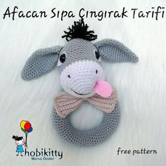Amigurumi Afacan Sıpa Çıngırak Tarifi See other ideas and pictures from the category menu…. Crochet Baby Toys, Crochet Animals, Crochet For Kids, Crochet Dolls, Crochet Yarn, Baby Knitting, Amigurumi Free, Amigurumi Patterns, Amigurumi Doll