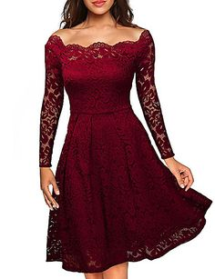 Cheap plus size dress, Buy Quality lace dress directly from China dress long sleeve Suppliers: Robe Femme Embroidery Vintage Lace Dress Women Off Shoulder Dresses Long Sleeve Casual Evening Party A Line Plus size Dress Robe Swing, Swing Dress, Dress Up, Dress Long, Dress Casual, Dress Formal, Dress Night, Dress Clothes, Vestidos Vintage