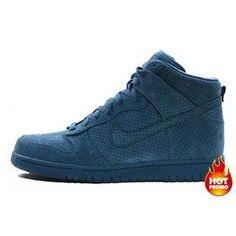 san francisco cee41 55e40 Mens Nike Dunk High Premium DQM Industrial Blue Industrial Blue