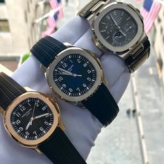 Dream Watches, Cool Watches, Patek Philippe Aquanaut, Patek Philippe Calatrava, Big Men Fashion, Expensive Watches, Versace Men, Burberry Men, Nautilus