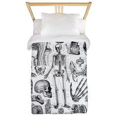 Human Anatomy Twin Duvet on CafePress.com