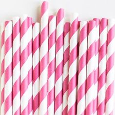 Pretty paper straws are perfect with your favorite party drinks. Mix several colors to match your theme! Great for weddings, baby showers, birthday parties.