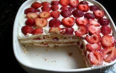Dessert Recipes, Desserts, Greek Recipes, Easy Cooking, French Toast, Cheesecake, Sweet Home, Strawberry, Food And Drink