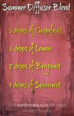 Try this awesome diffuser blend for a great summertime aroma. 3 drops of Grapefruit essential oil. 3 drops of Lemon essential oil. 2 drops of Bergamot essential oil. 1 drop of Spearmint essential oil. Visit our website Spearmint Essential Oil, Essential Oil Diffuser Blends, Lemon Essential Oils, Essential Oil Uses, Diffuser Recipes, Young Living, Osho, Doterra Oils, Doterra Blends