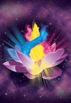 Llama Trina, Namaste, Earth Grid, Flame Art, Meditation Prayer, Cosmic Consciousness, Ascended Masters, Visionary Art, Sacred Art