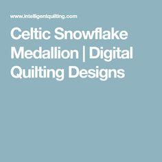Celtic Snowflake Medallion | Digital Quilting Designs