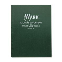 Ward Lesson Plan Book, Wirebound, 8 Class Periods/Day, 11 x 8-1/2, 100 Pages, Green, White