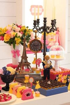 Beauty and the Beast Beauty Party Ideas, Beauty And The Beast Party, Beauty And The Best, Princess Birthday, Princess Party, Girl Birthday, Girls Party Decorations, Ideas Para Fiestas, Fiesta Party