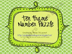 Ten Frame Number Puzzle product from TheReadingCorner on TeachersNotebook.com