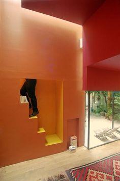 Apartment at Rue du Buisson St. Louis, Paris (staircase detail)   architect: Christian Pottgiesser