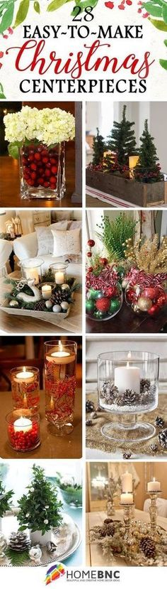 28 fabulous diy christmas centerpieces that anyone can make christmas craft ideas