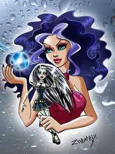 Frankie Stein (Monster High) and Stormy (Winx Club) Winx Club, Monster High Art, Monster High Dolls, Greek Goddess Art, Personajes Monster High, Las Winx, Teen Witch, Little Poni, Cartoon Books
