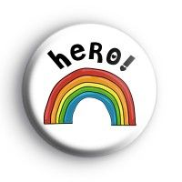 Kool badges - Button Badges - Be Happy Rainbow Badge Rainbow Badge, Rainbow Names, Word Hero, Thank You Writing, Name Badges, Pin Badges, Custom Badges, Uplifting Messages, Hope Symbol