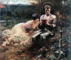 Arthur Hacker: The Temptation of Sir Percival, circa 1894.
