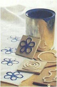 Ideas para hacer tus propios sellos tampons, une autre méthode