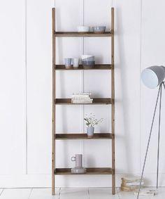 Rustic wooden ladder shelves £125