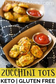 With only 5 ingredients these zucchini tots are an easy and delicious way to get picky eaters to eat their vegetables. With only 5 ingredients these zucchini tots are an easy and delicious way to get picky eaters to eat their vegetables. Low Carb Recipes, Diet Recipes, Cooking Recipes, Healthy Recipes, Vegan Zucchini Recipes, Appetizer Recipes, Appetizers, Zucchini Tots, Healthy Snacks