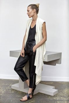Minimalistic Monochrome Style △ Isabel Marant Resort 2016 | Shop now: http://brgdf.co/Dl7GbD