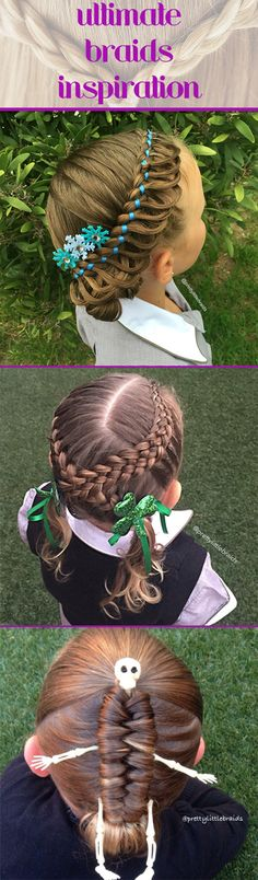 These braids are so unique and creative. They're a great source of hair inspiration no matter how old you are.