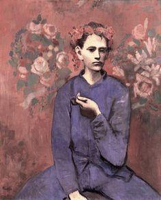 commovente: Pablo Picasso, Boy with Pipe (1905)