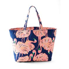 Lilly Pulitzer Gimme Some Leg Palm Beach Tote (94 NZD) ❤ liked on Polyvore featuring bags, handbags, tote bags, gimme some leg, lilly pulitzer handbag, lilly pulitzer tote, beach bag, canvas beach bags and canvas totes