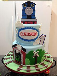 Thomas The Train 1St Birthday Cake