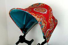 Red Turquoise Mandala Bugaboo Donkey Canopy hood dachbezug