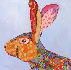 The Rabbit Spendid  Painting by Carolee S. Clark