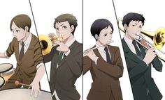 Hatano, Kaminaga, Jitsui, and Tazaki, from Joker Game || Musicians