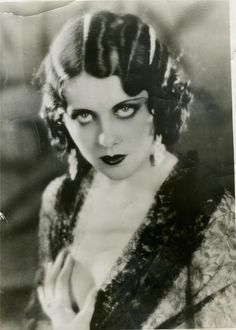 Starlet Fay Webb at the age of 23, (publicity shot from 1930). Note how she has her hand provocatively over one of her partially exposed breast... just as the actress Bessie Love does in one of the other photos I posted. If I remember correctly, Fay Webb died at the early age of 29. I believe she died from an infection, after a fairly minor surgery... these were the days before antibiotics.