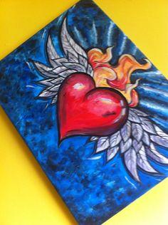 Ideas mexican art tattoo sacred heart for 2019 Animal Art Projects, Toddler Art Projects, Mexican Artwork, Mexican Folk Art, Disney Pop Art, Mexican Art Tattoos, Sacred Heart Tattoos, Heart Painting, Painting Art