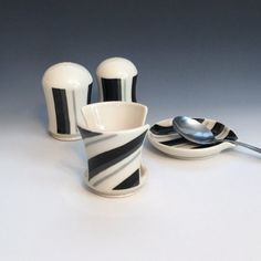 Gray Black and White Sponge Holder by AllisonGlickCeramics on Etsy