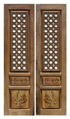 Pooja Door Design Modern 28 Ideas For 2019 Double Door Design, Main Door Design, Patio Door Coverings, Dorm Room Doors, Green Front Doors, Pooja Room Door Design, Wooden Door Design, Puja Room, Entrance Doors