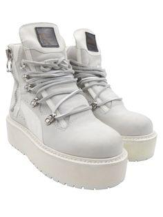 Rihanna X Fenty Puma White Nubuck Platform Creeper Sz 4/35.5 Sneaker Boots