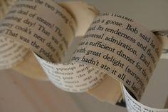 A Christmas Carol Paper Chain  7ft. long  by WonderfulLifeFarm, $14.00