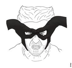 Wolverine Hugh Jackman Finger Mask by Zi Wei Tan