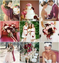 Burgundy, Pink and Red Wedding Inspiration