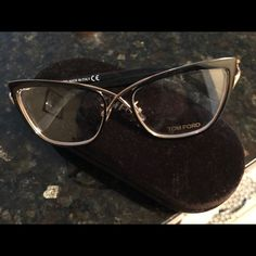 05ddf8a6bef Shop Women s Tom Ford Black Gold size Glasses at a discounted price at  Poshmark. Description  Brand new Tom Ford glasses with case.