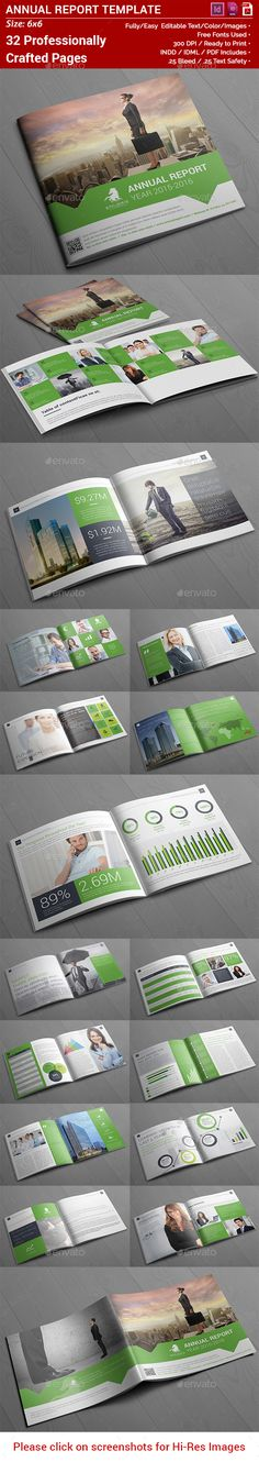 Square Annual Report — InDesign INDD #brochure template #square annual • Available here → https://graphicriver.net/item/square-annual-report/14312367?ref=pxcr