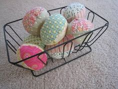 Fabric Eggs...I made these years ago. So fun, and a great use for scraps.