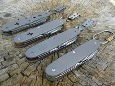 Different models of titanium SAK. Amazing work!