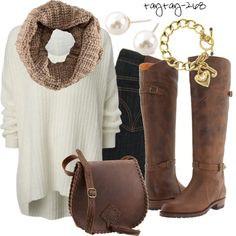 """Chunky Knits"" by taytay-268 on Polyvore"