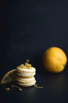 #orange #macarons #almond Macarons, Spoon, Almond, Food Porn, Sweets, Stud Earrings, Orange, Macaroons, Good Stocking Stuffers