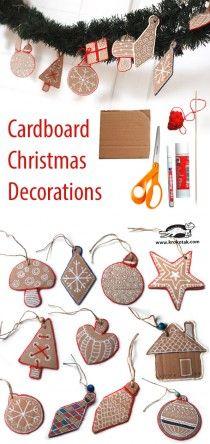 Christmas Cardboard Decoratoins