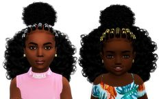 Alicia Hair // sims 4 cc // custom content black kids, toddler child hairstyle // black simmer, african american, ethnic hair, natural hair // #sims4cc #sims4customcontent #ts4cc