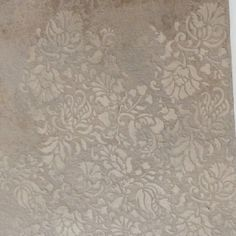 Close-up of ceiling embossed stencils using Modern Masters Metallic plaster by Karla Boddie of Luxe Faux